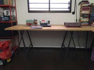 IKEA TABLE TOP + TRESTLE / IKEA DESK