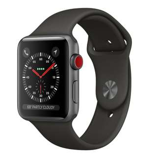 美國版全新未開封 Apple Watch Series 3 42mm Space Gray AI Black Sport(GPS + Cellular)美國版