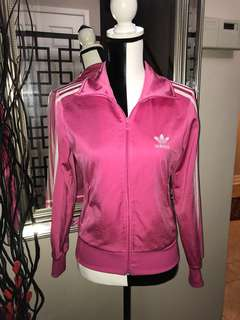 Original Adidas Zip Up Jacket (Pink, Small)
