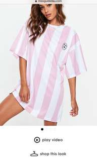 Miss guided tee dress