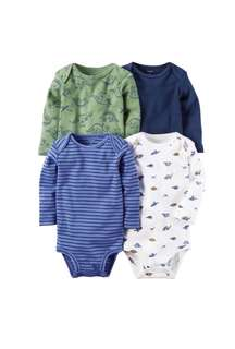 Carter's Baby Boy Long Sleeves Bodysuits