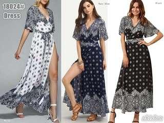 SLIT LONG DRESS (NC)