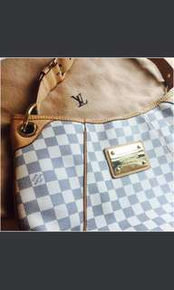 98 % New Louis Vuitton Damier Azur Galleria PM 100% REAL