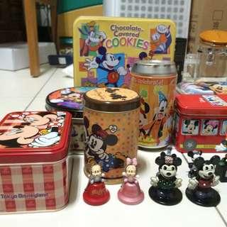 🚚 迪士尼米奇米妮小玩具 鐵盒