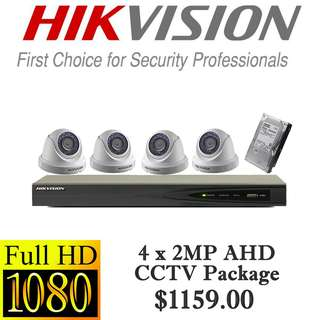 HIKvision 1080P AHD CCTV Package 4****