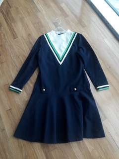 repriced R & Kr Knits Long sleeves navy dress in Small