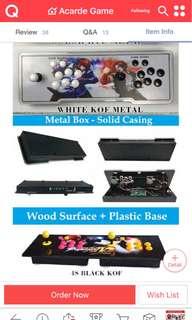 Pandora 4s 900 games. (White KOF design) Plug and play to tv (hdmi)