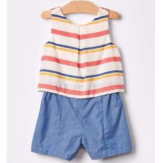 GAP baby romper stripes