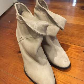ZIMMERMANN  Beige Leather Ankle Boots