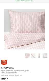 Ikea bedsheet Fjallvedel 150x200cm