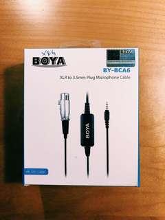 BRAND NEW Boya XLR to 3.5mm convert to record XLR mic to laptop/smartphone