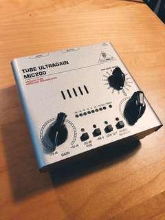 Benhringer condenser mic pre amp