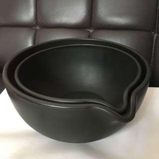 $50/2pcs 啡色膠Mixing Bowl 全新
