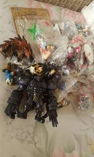 Lot of anime toy figures