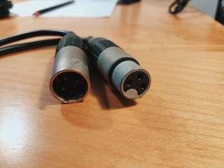 XLR to XLR cable