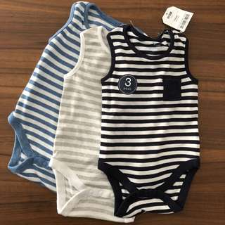 Baby Boy Sleeveless Bodysuits