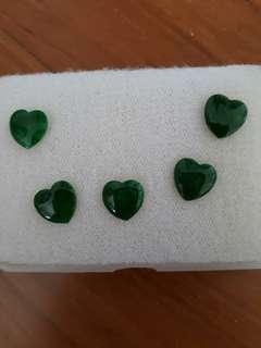 Natural Heart Shape Hearts Emerald Jade Stones