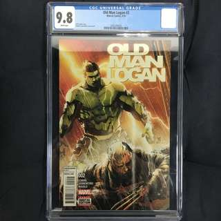 Old Man Logan 2 CGC Marvel Comics Book Avengers Movie Stan Lee