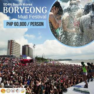 Boryeong Mud Festival (5D4N Korea Tour Package)