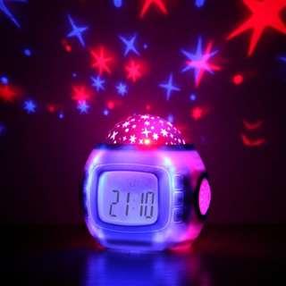 🚚 [INSTOCKS] Digital LCD Starry Music Alarm Clock