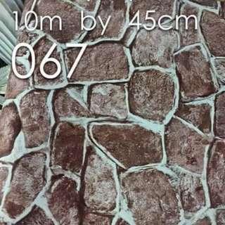 Bricks Stones Design Wallpaper Self Adhesive C067