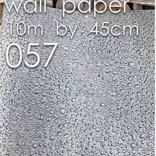 Water Bubbles Design Wallpaper Self Adhesive C057