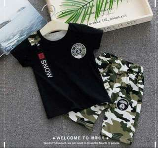 Boyset 2 in 1 Black Top Green Army