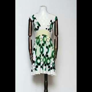 XOXO Pre-Loved White Printed Dress Medium