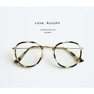 正韓製復古情懷斑駁鏡框圓形眼鏡 glasses ( CHUU 官網代購 ) 鏡框 韓國飾品