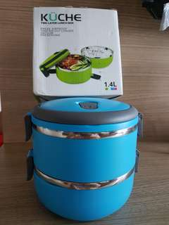 Kuche double layers & stainless steel lunch box