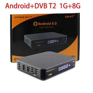 Preloaded DVB-T2+Android 6.0 TV BOX FREESAT GTT DVB-T/T2/Cable Amlogic S905D 1GB RAM 8GB ROM built wifi Contents pre-loaded