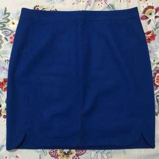 J. Crew Fleece Skirt (Blue)