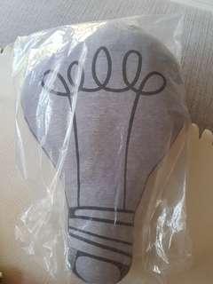 Cushion Light bulb glow in the dark cushion
