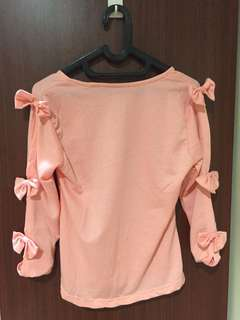 Pinky Bow Top