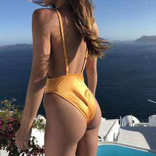 Yellow Mustard One piece swimsuit