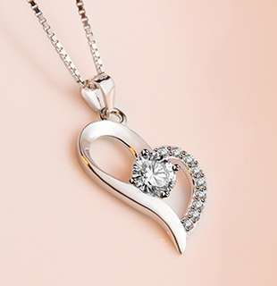 🚚 💎💎💎Pure 925 Sterling Silver Pandent Necklace with Round Cable Chain, Stylish & Great for everyday wearSP10