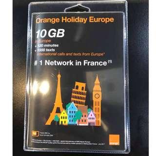 歐洲上網 Holidays歐遊預付卡 10GB上網+120分國際電話