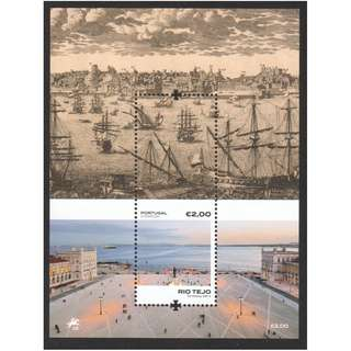 PORTUGAL 2018 TAGUS RIVER (BOATS) SOUVENIR SHEET OF 1 STAMP IN MINT MNH UNUSED CONDITION