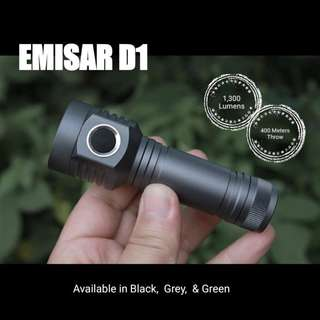(1,300 Lumens & 400 Meters Throw) EMISAR D1 Compact Long Beam Distance LED Flashlight