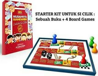 MANDARIN BOOK for kids and 4 BOARD GAMES