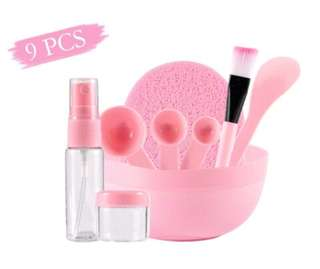 9 pieces Face mask tools in Pink