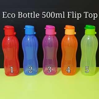 Authentic Tupperware Eco Bottle 500ml Flip Top Retail Price $10.50 pc Tupperware twtw
