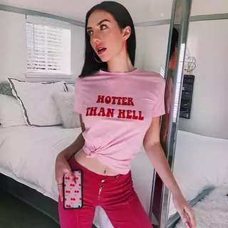 Hotter Than Hell Pastel Pink Top