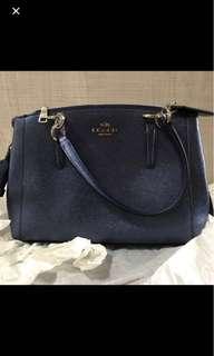 Reduced Price - BN Coach Metallic Blue Handbag