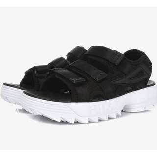 Korea Fila Disruptor Sliders FS1SPA2002X_BBK