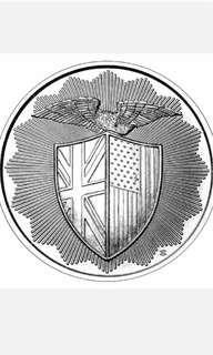 1oz Silver round - shield design