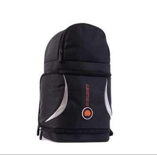 Original Delsey Rondo 72 Black Camera Bag Backpack