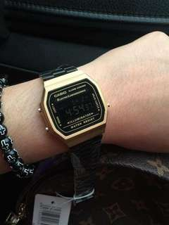 CASIO MATTE BLACKGOLD WATCH