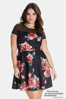 FLORAL DRESS Fits Up To XL  Price : 390