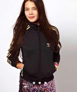 Adidas trefoil firebird jacket size 6 / size s